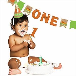 Pumpkin Patch - 1st Birthday Boy or Girl Smash Cake Kit - High Chair Decorations