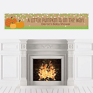 Pumpkin Patch - Personalized Fall & Thanksgiving Baby Shower Banner