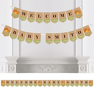 Pumpkin Patch - Personalized Fall & Thanksgiving Baby Shower Bunting Banner