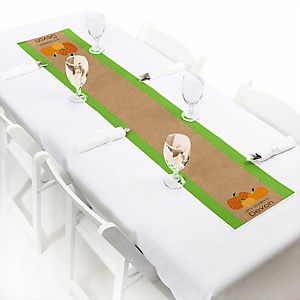 Pumpkin Patch - Personalized Fall & Thanksgiving Baby Shower Petite Table Runners
