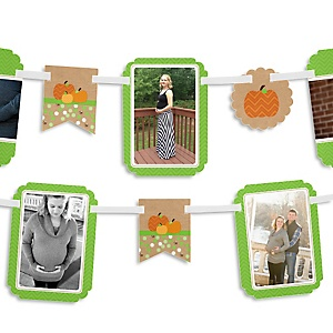 Pumpkin Patch - Fall & Thanksgiving Baby Shower Photo Bunting Banner