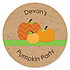 Pumpkin Patch - Personalized Fall & Halloween Baby Shower Sticker Labels - 24 ct
