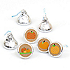 Pumpkin Patch - Round Candy Labels Fall & Halloween Party Favors - Fits Hershey's Kisses - 108 ct