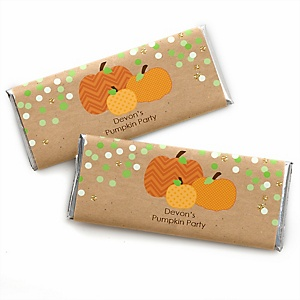 Pumpkin Patch - Personalized Fall & Thanksgiving Baby Shower Candy Bar Wrapper