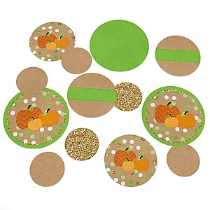 Pumpkin Patch - Personalized Fall & Thanksgiving Party Table Confetti - 27 ct