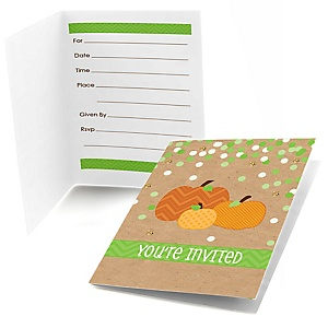 Pumpkin Patch - Fill In Fall & Thanksgiving Baby Shower Invitations - Set of  8