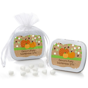 Pumpkin Patch - Mint Tin Personalized Fall & Thanksgiving Baby Shower Favors
