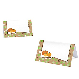 Pumpkin Patch - Fall & Halloween Party Place Cards - 9 ct