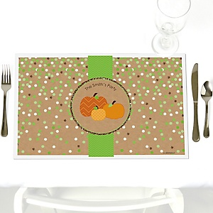 Pumpkin Patch - Personalized Fall & Thanksgiving Baby Shower Placemats
