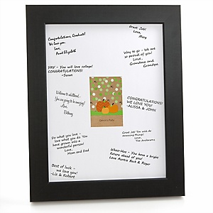 Pumpkin Patch - Personalized Fall & Thanksgiving Baby Shower Print with Signature Mat