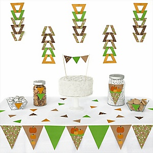 Pumpkin Patch - Fall & Thanksgiving Baby Shower Triangle Decoration Kits - 72 Count