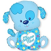 "33"" Puppy Boy - Super Shaped Mylar Balloon"