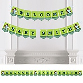 Boy Puppy Dog - Personalized Party Bunting Banner