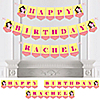 Girl Puppy Dog - Personalized Birthday Party Bunting Banner