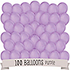 Purple - Baby Shower Latex Balloons - 100 ct
