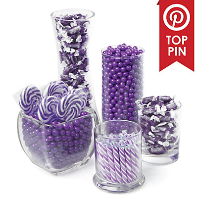 Chevron Purple - Baby Shower Theme | BigDotOfHappiness.