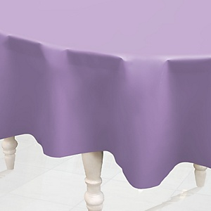 Purple - Round Baby Shower Table Cover