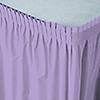 Lavender - Baby Shower Plastic Table Skirts