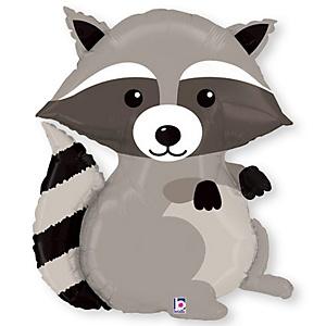 """36"""" Raccoon - Super Shaped Baby Shower Mylar Balloon"""