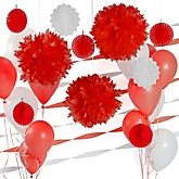 Red and White Decoration Kit for Baby Showers