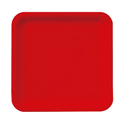 Red - Dessert Plates - 18 Qty/Pack - Baby Shower Tableware