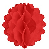 Red Honeycomb Ball - Baby Shower Decorations