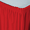 Red - Baby Shower Plastic Table Skirts