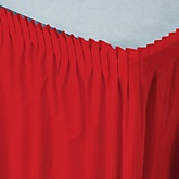 Red - Baby Shower Table Skirt