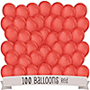 Red - Birthday Party Latex Balloons - 100 ct