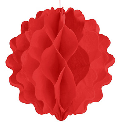 Red - Bridal Shower Honeycomb Ball Decorations