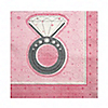 With This Ring - Bridal Shower Beverage Napkins - 16 ct