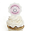 With This Ring - Personalized Bridal Shower Cupcake Pick and Sticker Kit -  12 ct