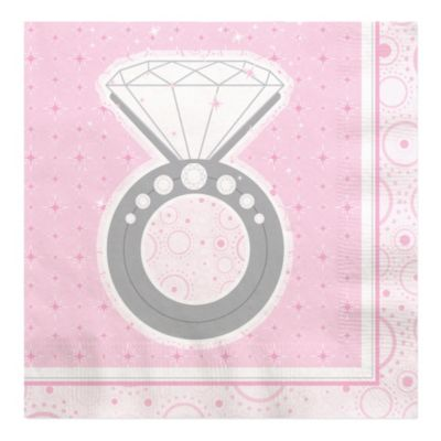 with this ring bridal shower luncheon napkins 16 ct