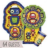 Robots - Baby Shower Tableware Bundle for 64 Guests