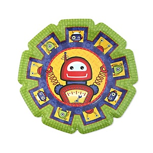 Robots - Baby Shower Dessert Plates - 8 Pack