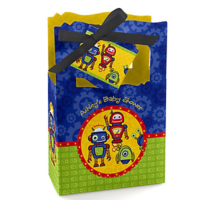 Robots - Personalized Baby Shower Favor Boxes...
