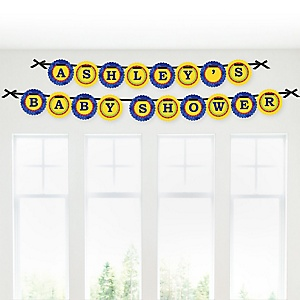 Robots - Personalized Baby Shower Garland Banner