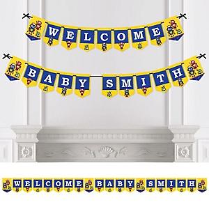Robots - Personalized Baby Shower Bunting Banner