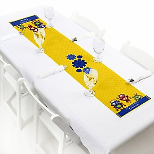 Robots - Personalized Baby Shower Petite Table Runners