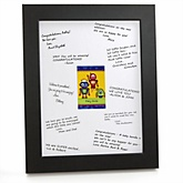 Robots - Personalized Baby Shower Print with Signature Mat
