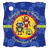 Robots - Personalized Baby Shower Tags - 20 Count