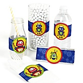 Robots - DIY Party Wrappers - 15 ct