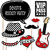 Party Like A Rockstar - 20 Piece Rock Star Party Photo Booth Props Kit