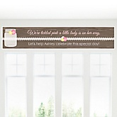 Rustic Floral - Personalized Baby Shower Banners