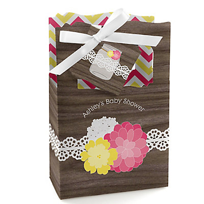 Rustic Floral - Personalized Baby Shower Favor Boxes...