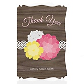 Rustic Floral - Personalized Baby Shower Thank You Cards