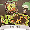 Funfari™ - Fun Safari Jungle - 8 Person Birthday Party Kit