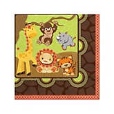Funfari™ - Fun Safari Jungle - Baby Shower Beverage Napkins - 16 Pack