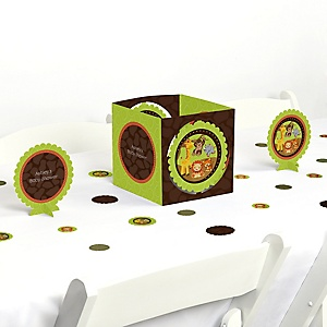 Funfari™ - Fun Safari Jungle - Baby Shower Centerpiece & Table Decoration Kit