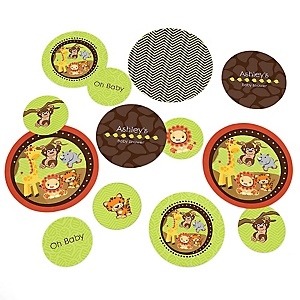 Funfari™ - Fun Safari Jungle - Personalized Baby Shower Table Confetti - 27 ct